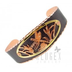 Handcrafted Copper Bracelet w Dragonfly