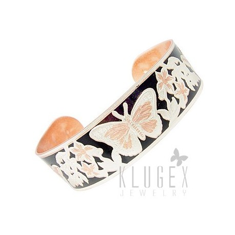 Handcrafted Copper Bracelet w Butterfly