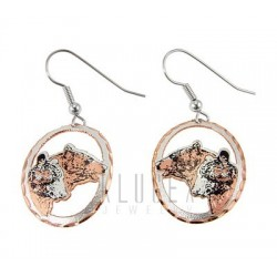 Handcrafted Copper Earrings w Bears