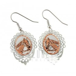 Handcrafted Copper Earrings w Horse