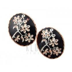 Handcrafted Copper Earrings w Flowers