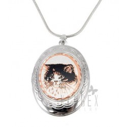 Handcrafted Locket Pendant w Necklace