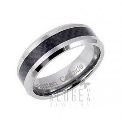 Tungsten Carbide w Carbon Fiber Inlay Ring