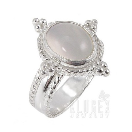 Sterling Silver Moonstone Ring Size 7