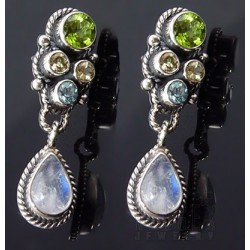 Sterling Silver Earrings with Gemstones