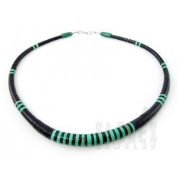 Sterling Silver Turquoise & Onyx Necklace