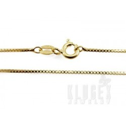 Vermeil Sterling Silver Box Chain 24 Inch