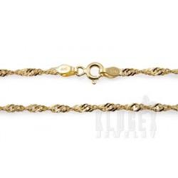 Vermeil Sterling Silver Bracelet 7 Inch