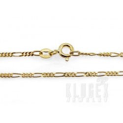 Vermeil Sterling Silver Figaro Chain 20 Inch