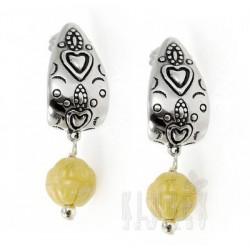 Southwestern Sterling Silver Aventurine Earrings