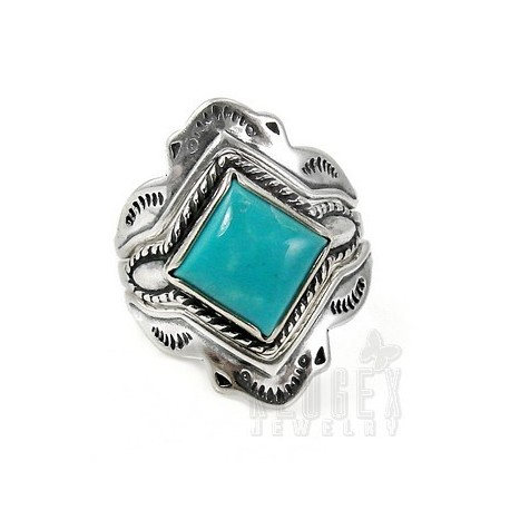 Southwestern Sterling Silver Set of Three Ring Size 9