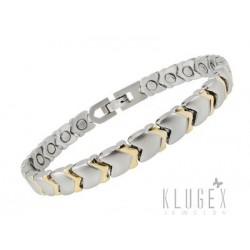 Stainless Steel Magnetic Bracelet with Hearts