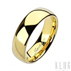 Tungsten Gold Plated Wedding Band Ring Size 5