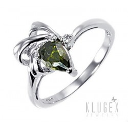 Sterling Silver Ring with Cubic Zirconia Size 6