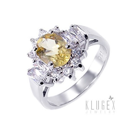 Sterling Silver Ring with Citrine Size 5