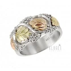 Black Hills Sterling & 12K Gold Wedding Band Ring