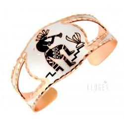 Handcrafted Copper Bracelet with Kokopelli