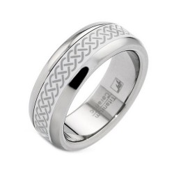 Titanium and Ceramic Band Ring