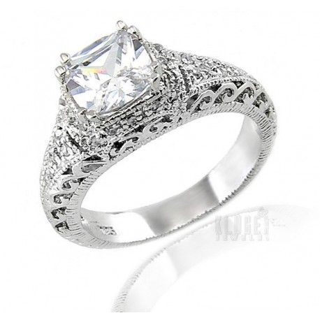 Sterling Silver Ring with 2.05ct Cubic Zirconia