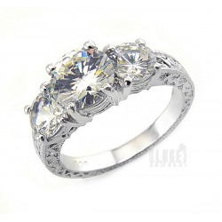Sterling Silver Ring with 3.5ct Cubic Zirconia
