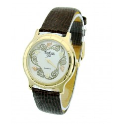 Black Hills Gold Watch with Leather Strap