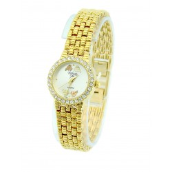 Black Hills Gold Tone Watch with Crystal