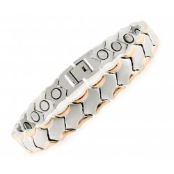 Rose Gold Plated Stainless Steel Magnetic Bracelet