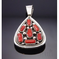 Native American Reversible Sterling Silver Pendant