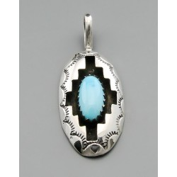 Native American Pendant with Turquoise