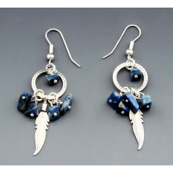 Southwestern Sterling Silver and Lapis Earrings