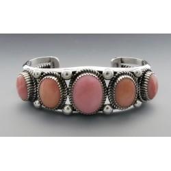 Southwestern Sterling Silver Cuff Bracelet with Peruvian Opal