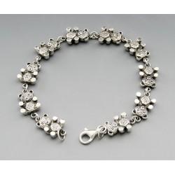 Sterling Silver Bear Link Bracelet