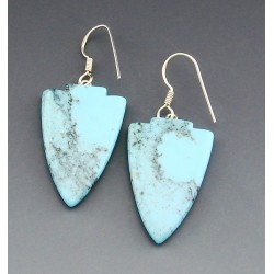 Southwestern Sterling Silver Turquoise Earrings