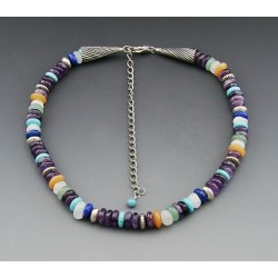 Gemstone with Sterling Silver Necklace