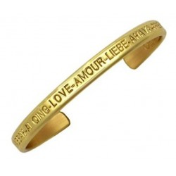 Sergio Lub Brass Cuff Bracelet - Love Brass