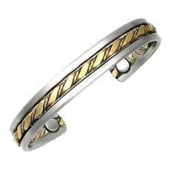 Sergio Lub Magnetic Cuff Bracelet - Prophesy Magnetic Brushed