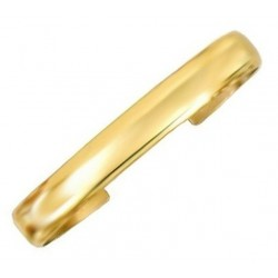Sergio Lub Brass Cuff Bracelet - Golden Dome