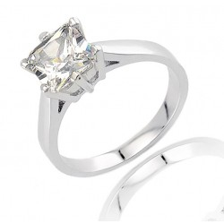 Sterling Silver Ring with Diamond CZ
