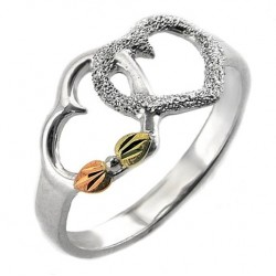 Black Hill 12K Gold on Sterling Silver Heart Ring