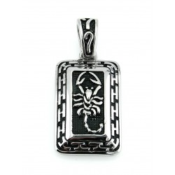 Stainless Steel Scorpion Tribal Tag Pendant