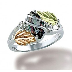 Black Hills Sterling and 12K Gold Ring with Mystic Topaz