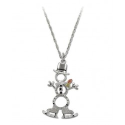 Black Hills Sterling and 12K Gold Snowman Pendant with Chain