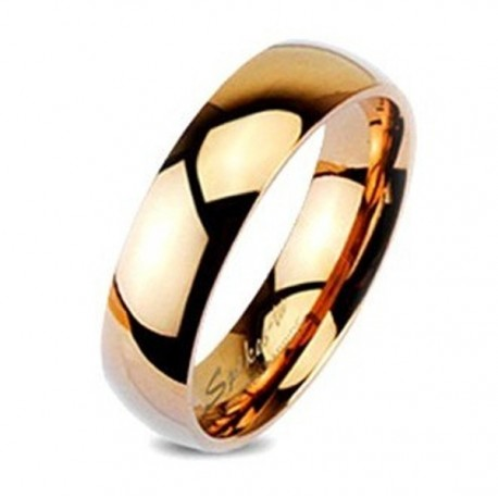 Rose Gold Tungsten Wedding Band Ring