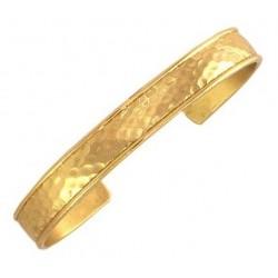 Sergio Lub Brass Cuff Bracelet - Hammered Brass
