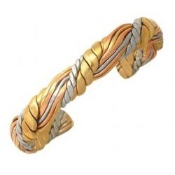 Sergio Lub Cuff Bracelet - Honeysuckle Weave