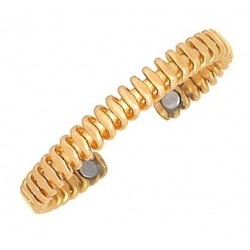 Sergio Lub Magnetic Brass Cuff Bracelet - Magnetic Morphic Field