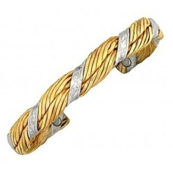 Sergio Lub Magnetic Brass Cuff Bracelet - Minoan Goddess