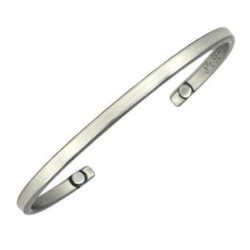 Sergio Lub Magnetic German Silver Cuff Bracelet - Silver Touch Magnetic