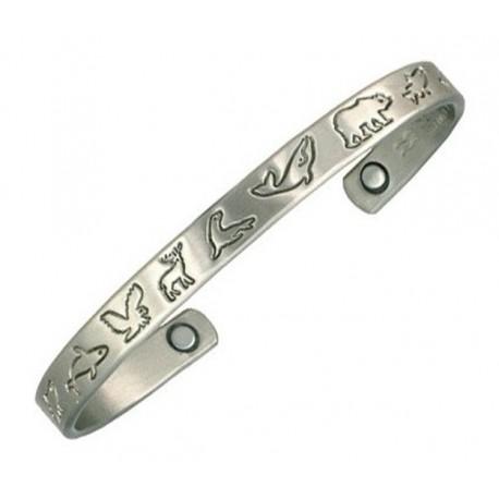 Sergio Lub Magnetic German Silver Cuff Bracelet