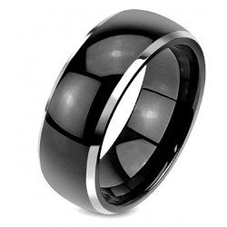 Black Tungsten Band Ring